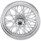 Chrome Rear 16 x 3.5 40-Spoke Laced Wheel Assembly  - 0204-0371