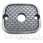 Semi-Polished Fish Scale Master Cylinder Cover - 4043