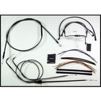Black Pearl Designer Series Handlebar Installation Kit for Use w/15 in. - 17 in. Ape Hangers - 487282