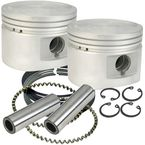 Flat-Topped Replacement Piston Kit - 3.510 in. Bore - 920-0026
