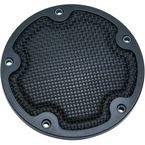 Satin Black Mesh Derby Cover - 6525