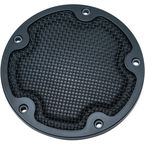 Satin Black Mesh Derby Cover - 6527