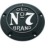 Wrinkle Black Old No. 7 Derby Cover w/Machined Logo - 106-231