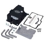 Wrinkle Black Oil Pan w/Supply Line Installation Kit - 310-0870