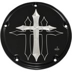 Black 5-Hole Cross Derby Cover - CR-0016-B