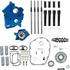 Chain Drive 465C Cam Chest Kit with Black Pushrod Tubes for Oil Cooled M8 Models - 310-1011A