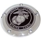 Black/Chrome Marine Seal Low Profile Derby Cover - MAR05-46