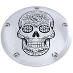 Chrome Sugar Skull Derby Cover - SSKUL-12