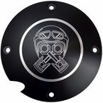 Black Anodized Billet Piston Helmet Derby Cover - BB03-155