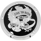 Black Live To Ride/Eagle Spirit Derby Cover - 78161