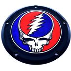 Black Grateful Dead Steal Your Face Twin Cam Derby Cover in Full Color - GD01-12BG-FC