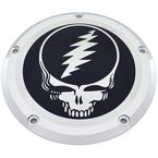 Chrome/Black Grateful Dead Steal Your Face Derby Cover - GD01-12BC