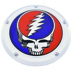 Chrome Grateful Dead Steal Your Face Twin Cam Derby Cover in Full Color - GD01-12FC