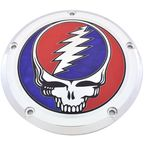 Chrome Grateful Dead Steal Your Face Touring Low Profile Derby Cover in Full Color - GD01-46FC