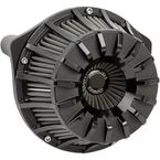 Black Anodized 15-Spoke Inverted Series Air Cleaner Kit - 18-995