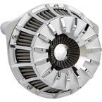Chrome 15-Spoke Inverted Series Air Cleaner Kit - 18-992