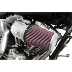 Satin Silver RK-Series Aircharger Intake System - 57-1134S
