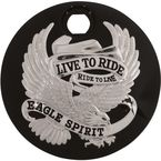 Black Live To Ride/Eagle Spirit Fuel Door - 80106