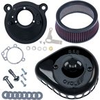 Gloss Black Mini Teardrop Stealth Air Cleaner for Super E/G Carb - 170-0448