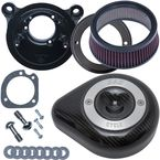 Stealth Teardrop Air Cleaner Kit w/Carbon Fiber Cover - 170-0499