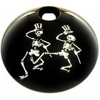 Black Grateful Dead Dancing Skeletons Fuel Door Cover - GD03-13BG