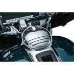 Chrome Tri-Line Fuel Door - 6968
