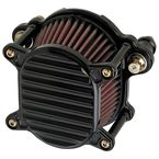 Black Finned Omega Air Cleaner - 02-166-1