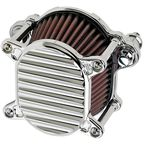 Chrome Finned Omega Air Cleaner - 10-240-3