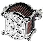Chrome Techno Omega Air Cleaner - 10-244-3
