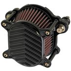 Black V-Fin Omega Air Cleaner - 02-169-1