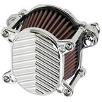 Chrome V-Fin Omega Air Cleaner - 10-246-3
