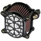 Black/Silver Techno Omega Air Cleaner - 02-168-2