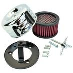 Chrome Louvered Air Cleaner for CV & EFI - 109-0115