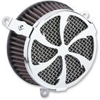 Chrome Swept Air Cleaner - 606-0104-01