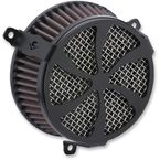 Black Swept Air Cleaner - 606-0104-01B