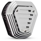 Chrome Slotted Hex Air Cleaner - B09-0008C