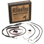 Black Vinyl Handlebar Cable and Brake Line kit for 13 in. Apes w/o ABS - B30-1290