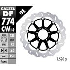 Front Aluminium Floating Wave Rotor w/Holes - DF774CWD