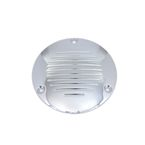 Chrome Grooved 3-Hole Derby Cover - 42-1142