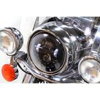 12V Chrome 7 in. LED Headlamp w/o Mounting Ring - 33-1106