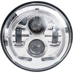 Chrome 7 in. LED Headlight - LED-130