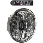 12V Chrome 7 in. 8790 Adaptive 2 Series LED Headlight w/Mounting Ring - 0555061