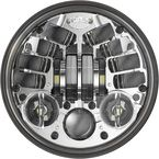 Chrome Model 8690 5 3/4 in. Round Adaptive 2 LED Headlight - 0555101