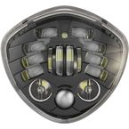Black Model 8695 Diamond Adaptive 2 7 in LED Headlights - 0555151