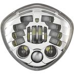 Chrome Model 8695 Diamond Adaptive 2 7 in LED Headlights - 0555161