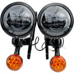 Black LED Auxiliary Lights & Turn Signals - MV195