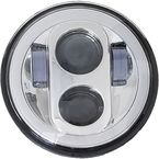 Chrome 5 3/4 in. High Definition LED Headlight w/Full Halo - HD5MCH