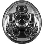 Chrome V-Rod LED Headlight - HW195210