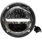 Chrome 7 in. Classic Headlight w/Daytime Running Lights - HD7CLC