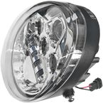 Chrome VRod LED Headlight - HDVRODC
